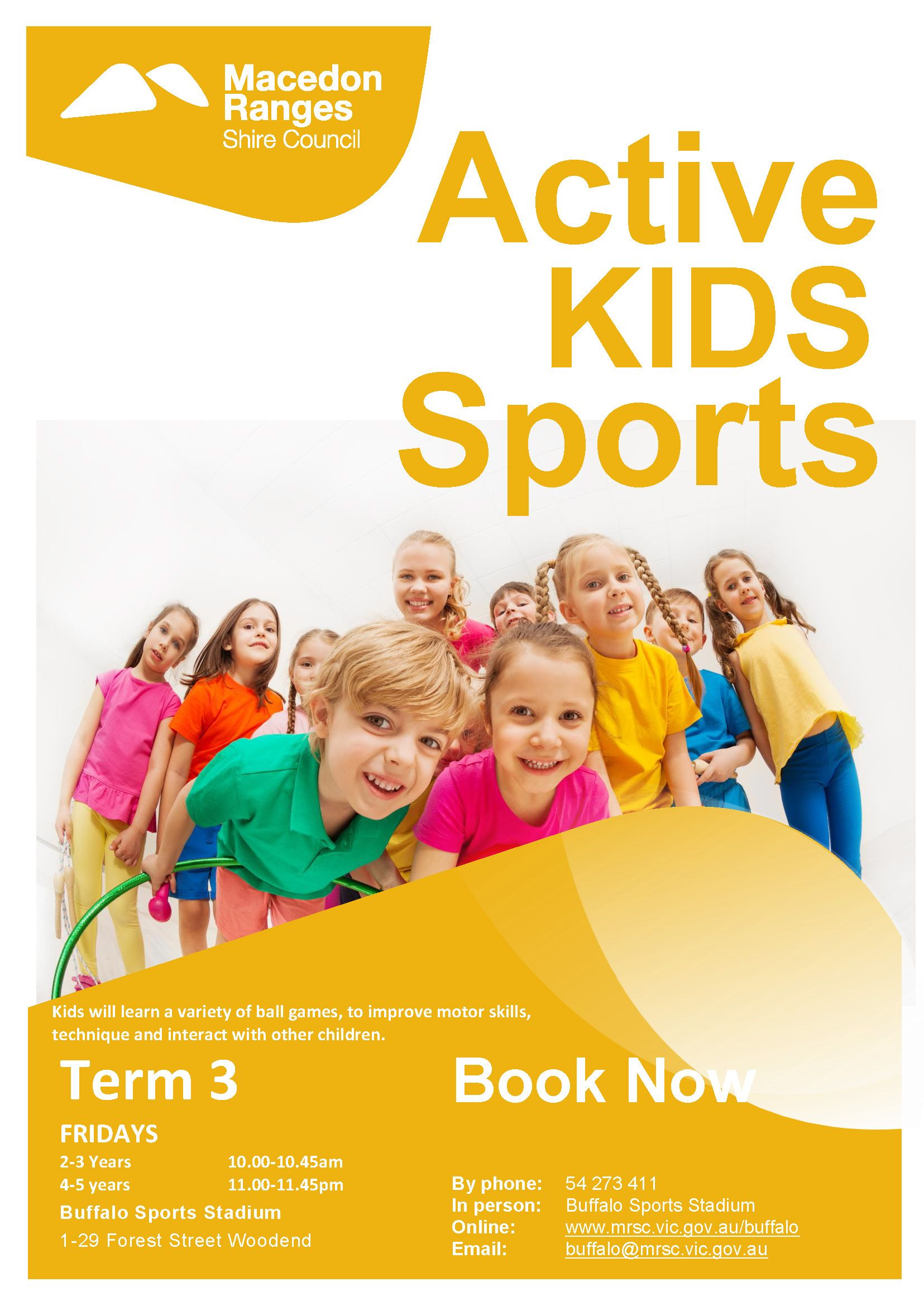 Active Kids Sports Poster Term 3 2021 - Kyneton High School - Excellence in Teaching & Learning