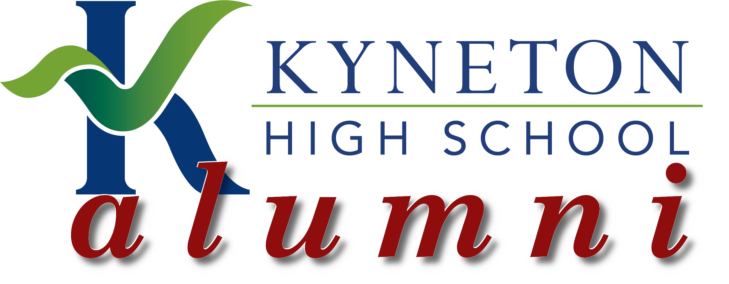 Alumni logo 05 even brighter red with highlight - Kyneton High School - Excellence in Teaching & Learning