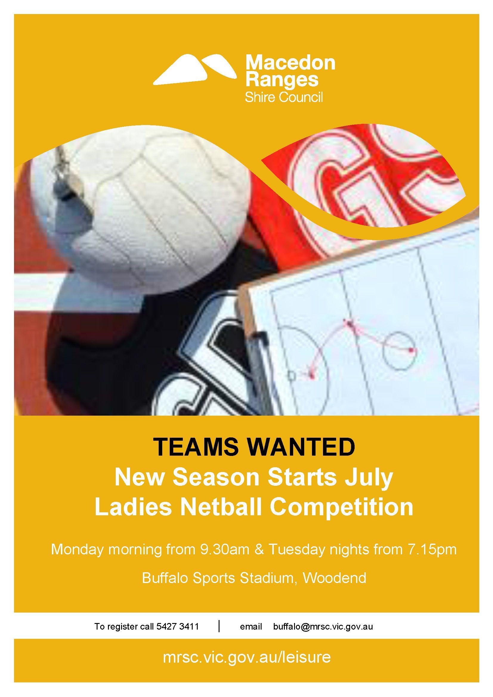 Netball Poster Season 2 2021 - Kyneton High School - Excellence in Teaching & Learning