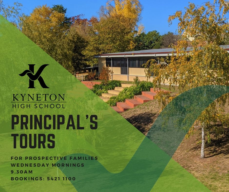 Principal Tour FB Post - Kyneton High School - Excellence in Teaching & Learning