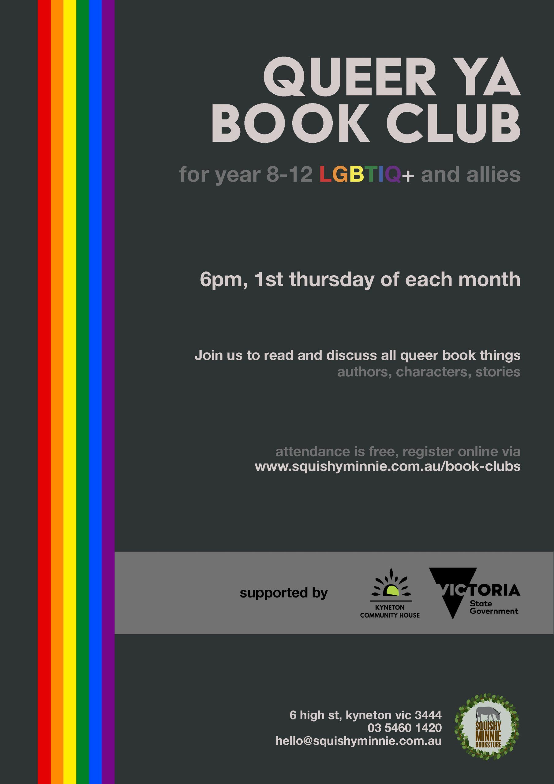 Queer Book Club scaled - Kyneton High School - Excellence in Teaching & Learning