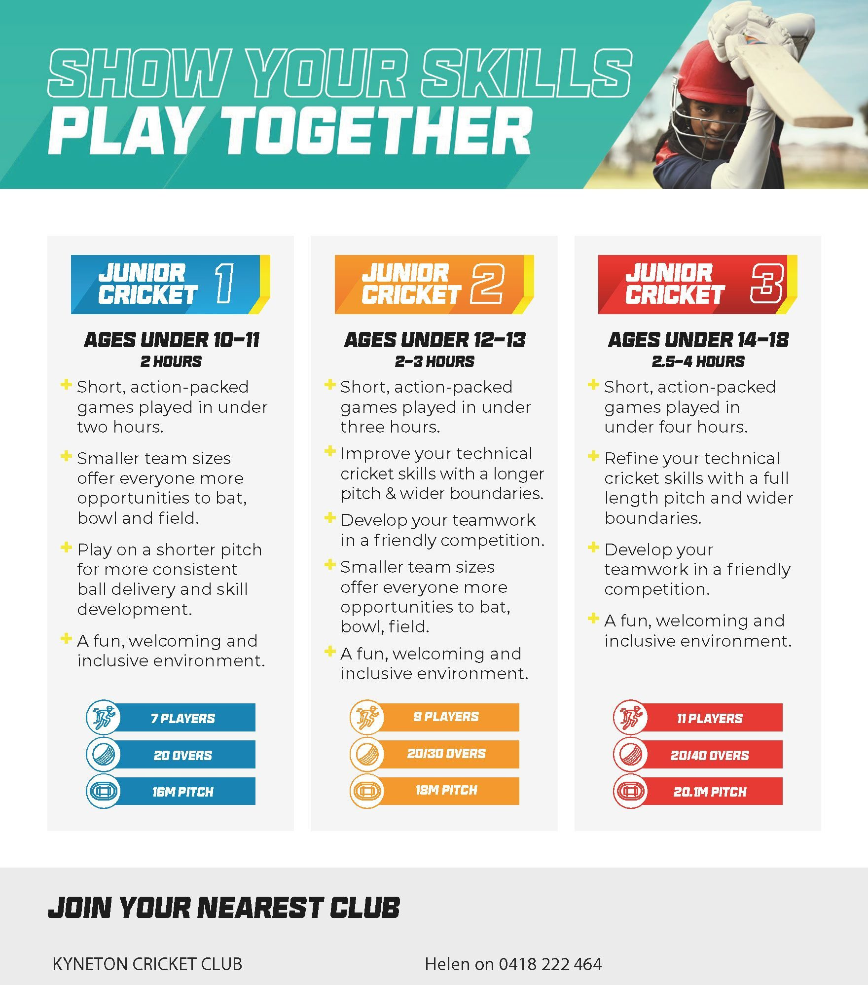15018 Cricket Participation Global Junior A5 Flyer Page 2 e1631779526674 - Kyneton High School - Excellence in Teaching & Learning